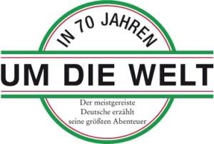 In siebzig Jahren um die Welt | Logo
